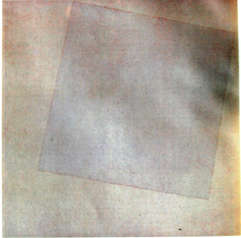 """113.  Малевич Казимир  """"Белый квадрат на белом""""  1918  Холст, масло  78,7х78,7  Музей современого искусства, Нью-Йорк"""