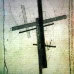 """123. Малевич Казимир """"Супрематизм"""" 1917 Бумага, черный мел 32х24,6 Городской музей, Амстердам"""
