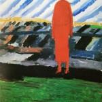 """128. Малевич Казимир """"Красная фигура"""" Конец 1920-х Холст, масло 30х23,5 Государственный Русский музей"""