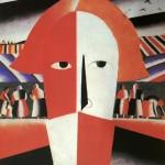 """132. Малевич Казимир """"Голова крестьянина"""" 1928-1932 Фанера, масло 71,7х53,8 Государственный Русский музей"""