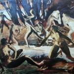 """105 Серебрякова Зинаида """"Диана и Актеон"""" 1916 Картон, гуашь, акварель 47х61,5 Музей Новый Иерусалим"""