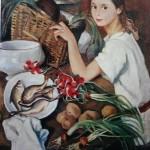 "159. Серебрякова Зинаида ""Тата с овощами"" 1923 Холст, масло 88х71 Собрание Л.Г.Лойцанского"