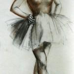 """180. Серебрякова Зинаида """"Балерина"""" 1937 Бумага, смешанная техника 40х60 Частное собрание"""