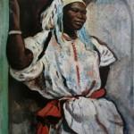 """205. Серебрякова Зинаида """"Марокканка в белом"""" 1928 Холст, масло 93х74 Государственный Русский музей"""