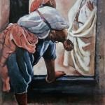 """208. Серебрякова Зинаида """"Марракеш. Фигура в дверях"""" 1928 Холст, масло 92х73 Донецкий художественный музей"""