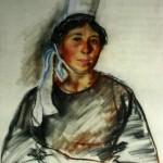 """219. Серебрякова Зинаида """"Бретонка"""" 1935 Бумага, пастель 63,5х48 Омский музей изобразительных искусств"""