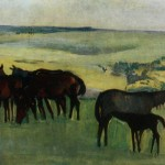 "25. Серебрякова Зинаида ""Табун лошадей"" 1908-1909 Бумага, темпера 27х35 Челябинская картинная галерея"