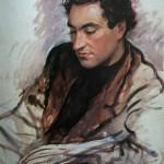 """254. Серебрякова Зинаида """"Портрет Е.И.Шапиро"""" 1940 Бумага, масло, темпера 63,5х48 Государственный музей искусств, Бишкек"""