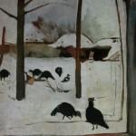 """33. Серебрякова Зинаида """"Птичий двор"""" 1910 Бумага, темпера 44х44 Челябинская картинная галерея"""