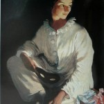 """61. Серебрякова Зинаида """"Пьеро (Автопортрет в костюме Пьеро)"""" 1911 Холст, масло 71,5х58,5 Одесский художественный музей"""
