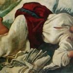 """84. Серебрякова Зинаида """"Спящая крестьянка"""" 1917 Холст, масло 77,5х138 Собрание семьи Рыбаковых"""