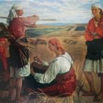 """85. Серебрякова Зинаида """"Жатва"""" 1915 Холст, масло 142х177 Одесский художественный музей"""