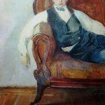 """13. Сомов Константин """"Автопортрет"""" 1898 Бумага, акварель, пастель, графитный карандаш, белила 46х32,6 Государственный Русский музей"""