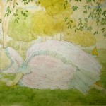 """84. Сомов Константин """"Маркиза"""" 1919 Бумага, графитный карандаш, акварель, белила"""" 19,5х27 Тюменский музей изобразительных искусств"""