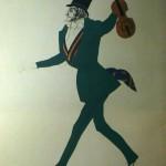 """148. Бакст Лев """"Паганини. Эскиз костюма к балету """"Волшебная ночь"""" на музыку Ф.Шопена"""" 1923 Бумага, графитный карандаш, гуашь, тушь"""