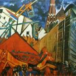 """152. Бакст Лев """"Эскиз декорации к мимодраме """"Подлость"""" 1922 Бумага, графитный карандаш, акварель, гуашь"""
