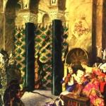 "158. Бакст Лев ""Панно I. Проклятие Злой Феи"" 1922 Холст, масло 212,6х84,4 Уодесдон, Коллекция Ротшильдов"