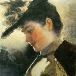 """16. Бакст Лев """"Женский портрет"""" 1892 Бумага, акварель 36,5х26,3 Омский музей изобразительных искусств"""