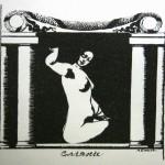 """33. Бакст Лев """"Заставка к стихотворению К.Д.Бальмонта """"Слияние"""" для журнала """"Мир искусства"""" 1901"""