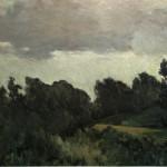 "48. Бакст Лев ""Пейзаж"" 1903-1904 Холст, масло 61х88,5 Музей-квартира И.И.Бродского, Санкт-Петербург"
