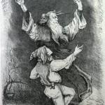 """5. Бакст Лев """"Лир и шут"""" Иллюстрация к трагедии В.Шекспира """"Король Лир"""" 1888"""