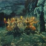 """54. Бакст Лев """"Сиамский священный танец"""" 1901 Холст, масло 73,2х109,5 Государственная Третьяковская галерея"""