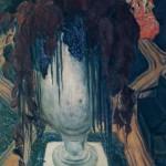 """64. Бакст Лев """"Ваза (Автопортрет)"""" 1906 Бумага на холсте, гуашь, акварель 113х71,3 Государственный Русский музей"""