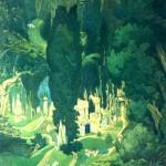 "65. Бакст Лев ""Элизиум"" 1906 Бумага на картоне, гуашь, акварель 158х140 Государственная Третьяковская галерея"