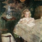 """70. Бакст Лев """"Портрет А.П.Гриценко"""" 1905 Бумага, акварель Государственный Русский музей"""