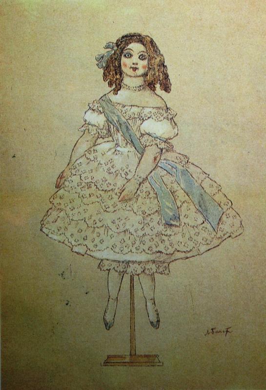 Рисовать фарфоровую куклу