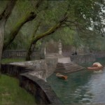 "Исаак Левитан ""Набережная"" 1894 *Государственная Третьяковская Галерея"