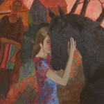 """Вадим Кулаков """"Девочка с лошадью"""" 1993"""