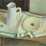 "Владимир Вейсберг ""Белый кувшин и тарелка на полотенце"" 1960"