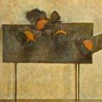 """Владимир Вейсберг """"Апельсины в черных бумажках на черном столе"""" 1961"""