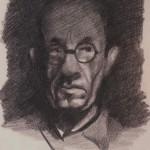 "7. Тоот Виктор ""Автопортрет (Александров. 101-й км)"" 1947 Бумага, карандаш 25,5х19,2 Собрание ""Мемориал"""