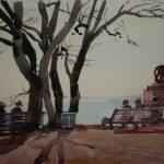 """10. Кизевальтер Вера """"Венгрия"""" 1960 Бумага, акварель 20х28 Собрание семьи художника"""