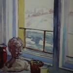"""14. Кизевальтер Вера """"Вид из окна мастерской"""" 1963 Бумага, акварель 37,5х47 Собрание семьи художника"""