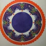 """16. Тоот Виктор """"Эскиз тарелки с новогодними мотивами"""" 1953 Бумага, акварель 28,7х34 Собрание семьи художника"""