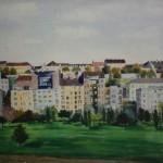 """19. Тоот Виктор """"Будапешт. Парк """"Кровавое поле"""" 1960 Бумага, акварель, гуашь 39х29,5 Собрание семьи художника"""