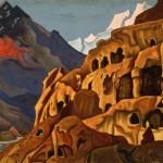"""Николай Рерих """"Мощь пещер. Из серии """"Майтрейя"""" 1925"""