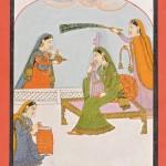 Рагини. Северная Индия, сер. XVIII в. Бумага, минеральные краски, золото