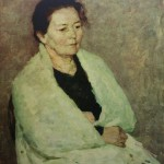 "1. Фридман Карл ""Портрет мамы"" 1954 Холст, масло 70,5х55,5"