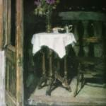"2. Фридман Карл ""Балкон на Кропоткинской. Летняя ночь"" 1955 Холст, масло 80х60"