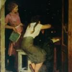 """3. Фридман Карл """"На балконе"""" 1956 Холст, масло 135х95"""