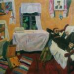 "16. Фридман Карл ""На этюдах в деревне"" 1966 Холст, масло 100х128"