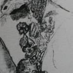 "1. Гурвич Борис ""Без названия"" 1925 Бумага, карандаш 23,5х9,1 Государственный Русский музей"