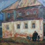 """19. Фридман Карл """"Старый дом"""" 1967 Холст, масло 100х137"""