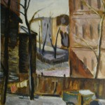 "2. Телепнев Владимир ""Усачёвка. Госпиталь"" 1946 Холст, масло 80х60"