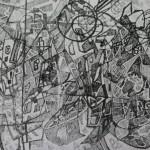 """2. Гурвич Борис """"Первая попытка"""" 1925 Бумага, тушь 9,8х16,7 Государственный Русский музей"""