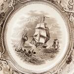 Тарелка. Великобритания. 1845-1858 гг. Завод Ф. Морли и компания.